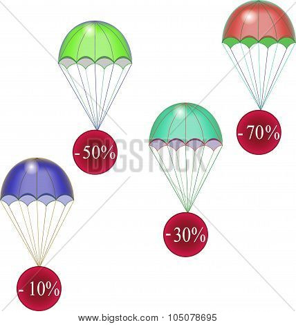 Discounts fly down on parachutes