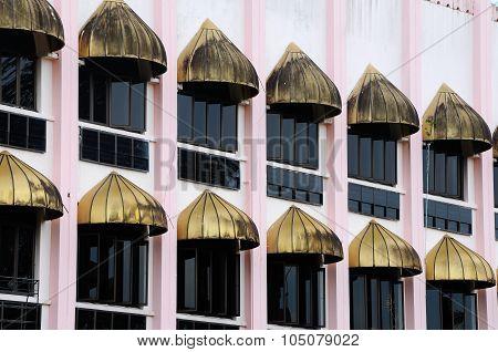 Window. Kuching Town Mosque a.k.a Masjid Bandaraya Kuching in Sarawak, Malaysia