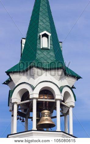 The bells in  belfry of  the city  Korsun-Shevchenkivskyi, Ukraine.