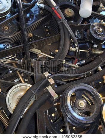 Engine Of Modern Harvester
