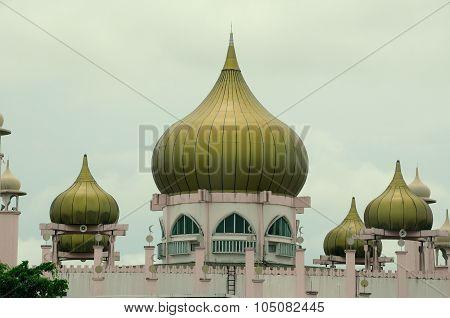 Dome of Kuching Town Mosque a.k.a Masjid Bandaraya Kuching in Sarawak, Malaysia