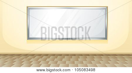 Whiteboard in the middle of the room illustration