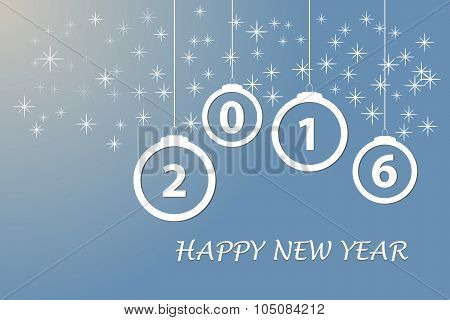 Happy new year in blue color