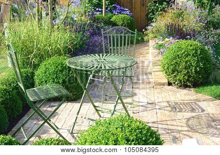 Cast Iron garden furniture outdoors