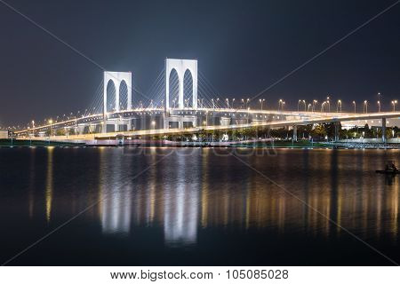 Sai Van Bridge At Night