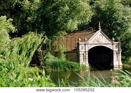 Boathouse in country estate