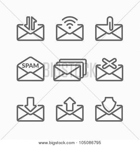 Set. E-mail Icons.