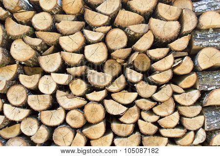 Pile Of Firewood Logs