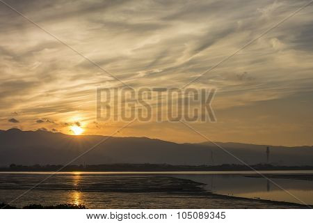 Sun Raise At Wugu Township, Taiwan