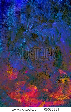 Abstract watercolor background. Mixed media