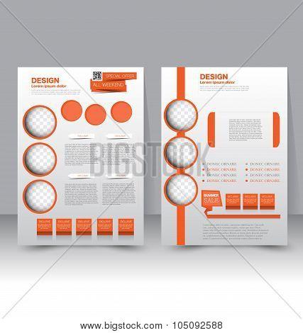 Flyer template. Business brochure. Editable A4 poster