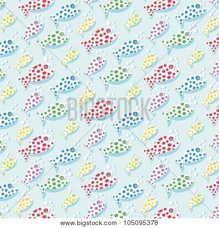 repetitive pattern background with fish