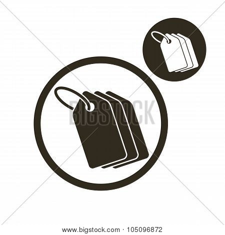 Tag Retail Theme Vector Simple Single Color Icon Isolated On White Background, Includes Invert Versi