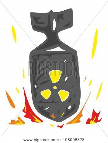 Falling Nuclear Bomb Vector