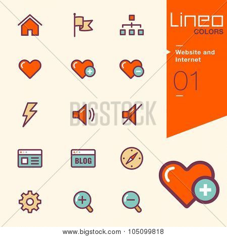 Lineo Colors - Website and Internet icons