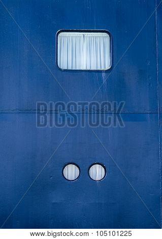 Various Illuminator Of Cruise Ship Closeup