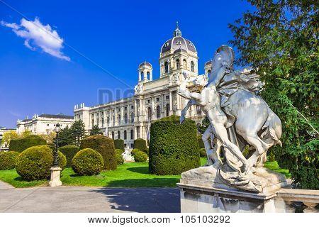 elegant Vienna with beautifuk parks.Austria