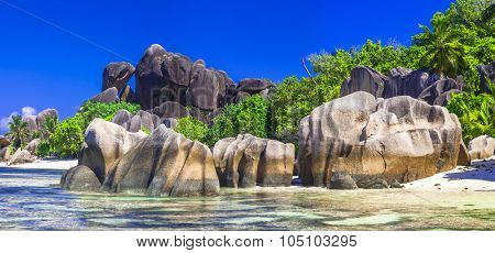 Anse source d'argent - one of the most beautiful beaches. Seychelles