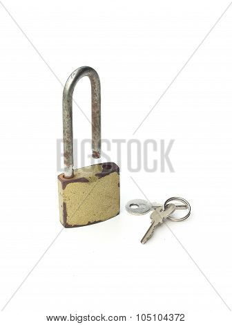 Metal Padlock With Keys