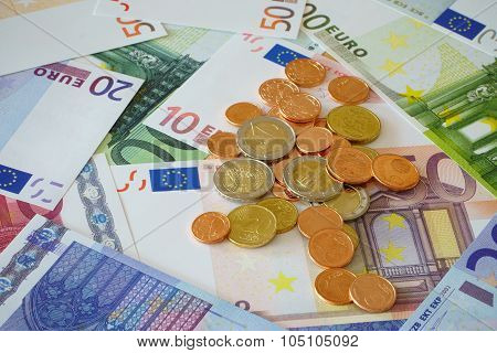 Background With Euro Currency