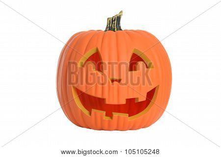 Isolated plastic halloween pumpkin