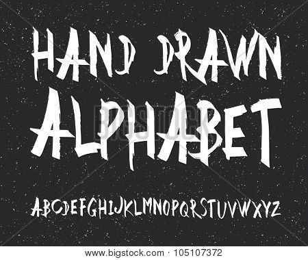 Uppercase alphabet letters. Hand drawn letters. Vector alphabet. Letters of the alphabet written with a black marker
