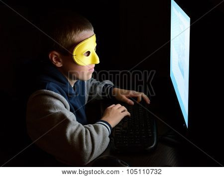 anonymous user looking at the screen