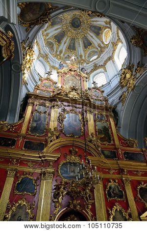 St Andrew's Church indoor, Kiev, Ukraine,