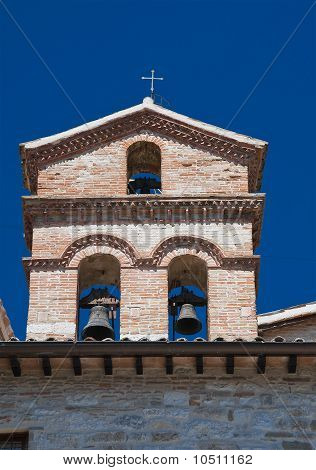 St. Marziale Belltower Church. Gubbio. Umbria.
