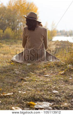 Beautiful Young Woman Enjoying The Autumn