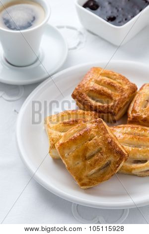 Sweet Puff Pastry On Plate