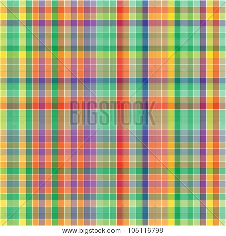 Vector Pattern With Checkered Texture. Abstract Bright Backdrop. Geometrical Background.