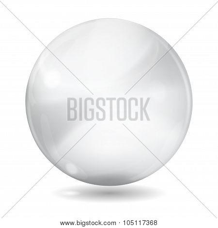 Big White Opaque Glass Sphere