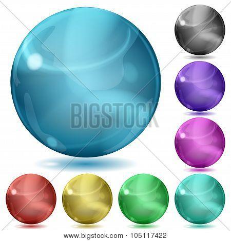 Multicolored Opaque Spheres