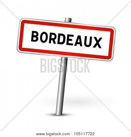 Bordeaux France - city road sign - signage board