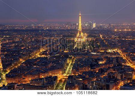 Paris - April 27 : View Of The Paris And Tower Eiffel  On April 27, 2013 In Paris. The Eiffel Tower