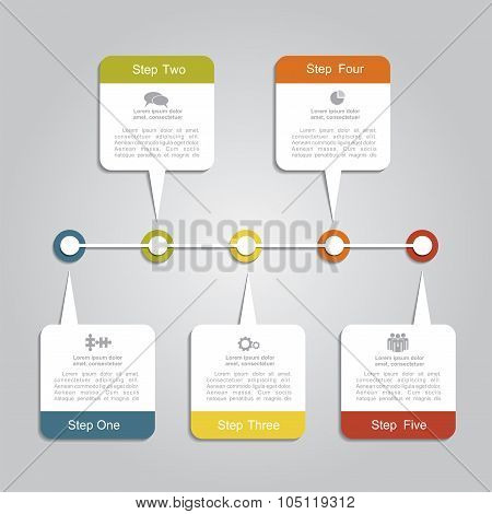 Timeline infographic layout template. Vector illustration.