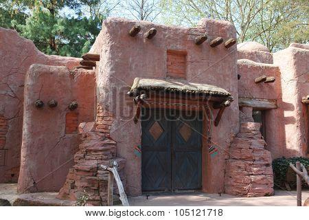 Classic Adobe House Pueblo