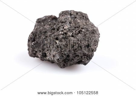 Volcanic Stones On A White Background