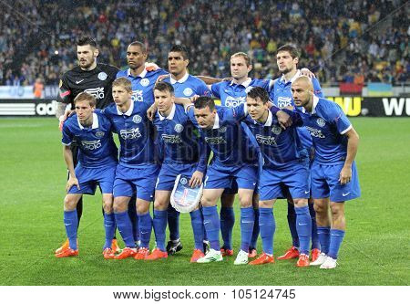 Fc Dnipro Team Pose For A Group