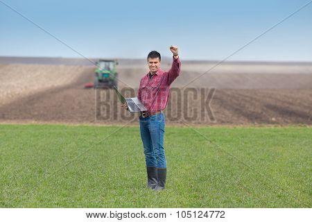Satisfied Farmer In The Field