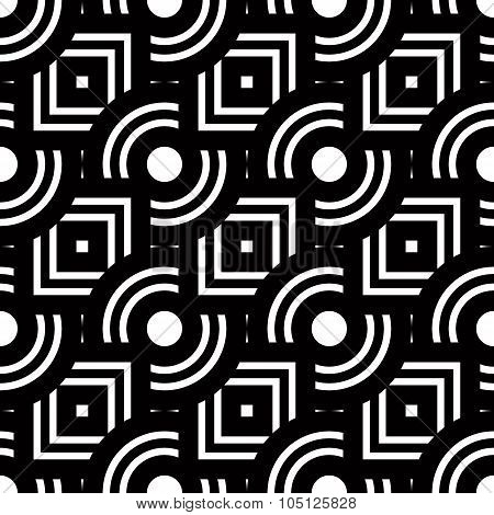 Seamless Geometric Pattern, Simple Vector Black And White Stripes Background, Accurate, Editable