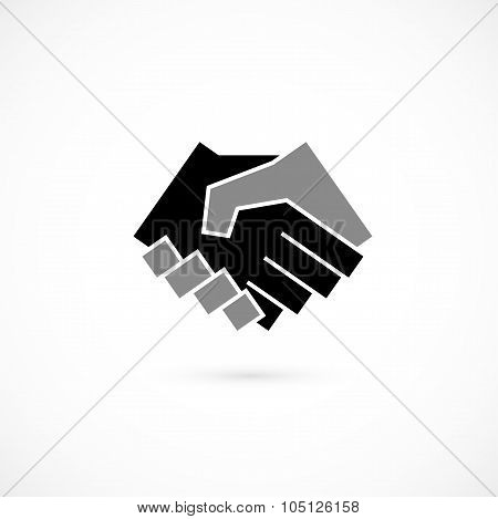 Handshake abstract logo vector design template