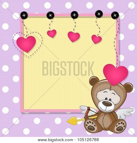 Cupid Teddy Bear With Frame