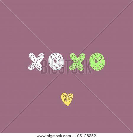 Doodle sketch XOXO