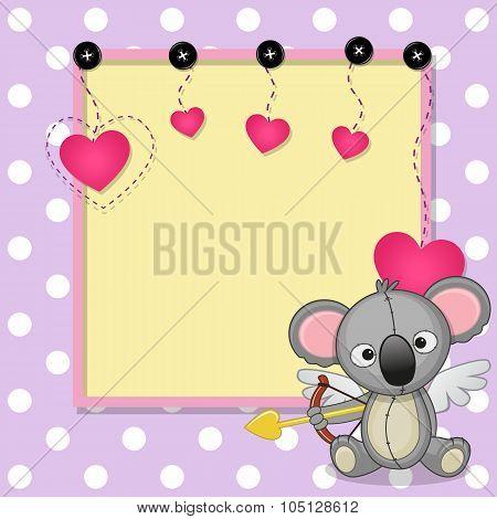 Cupid Koala With Frame