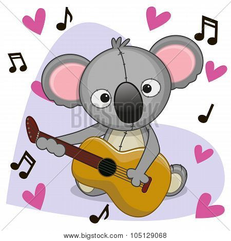 Koala With Guitar