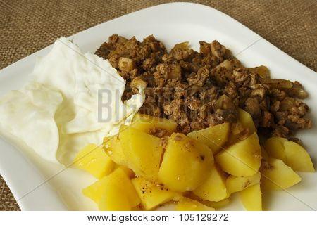 Soy Granules Potatoes Recipe