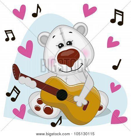 Polar Bear With Guitar