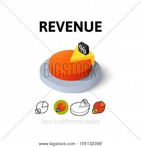 Revenue icon in different style